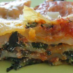Recette lasagne aux épinards bio